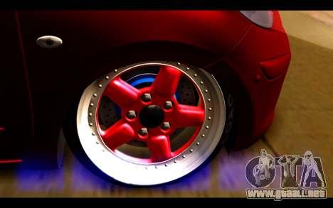Nissan March 2011 Hellaflush para GTA San Andreas vista posterior izquierda