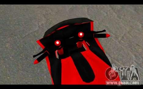 Bajidi 1R para GTA San Andreas vista posterior izquierda