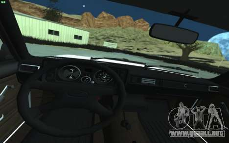 VAZ 2105 para GTA San Andreas para visión interna GTA San Andreas