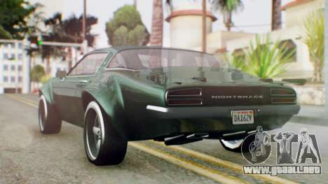 GTA 5 Imponte Nightshade para GTA San Andreas left