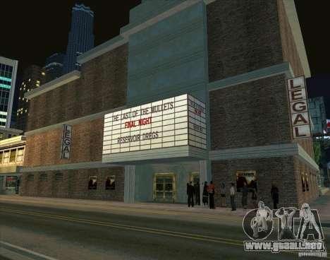 Todo sobre cine para GTA San Andreas