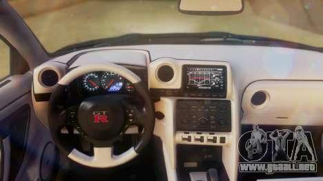 Nissan GT-R Police Rocket Bunny para GTA San Andreas vista hacia atrás