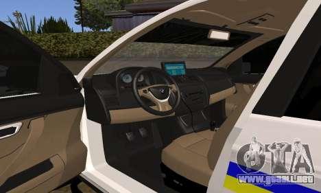 BMW X5 Ukranian Police para la vista superior GTA San Andreas