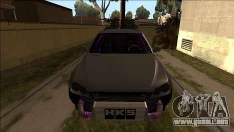 Lexus IS300 Drift para la visión correcta GTA San Andreas