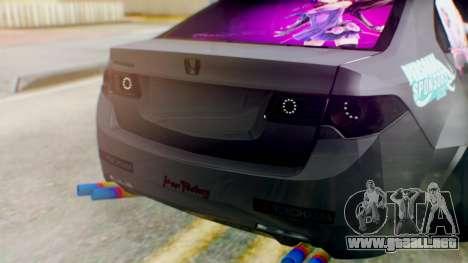 Honda Accord Yukari Itasha para GTA San Andreas vista hacia atrás