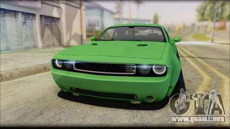 Dodge Challenger LB Perfomance para la visión correcta GTA San Andreas