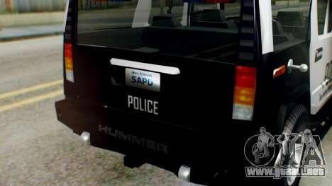New Police Ranger para la visión correcta GTA San Andreas