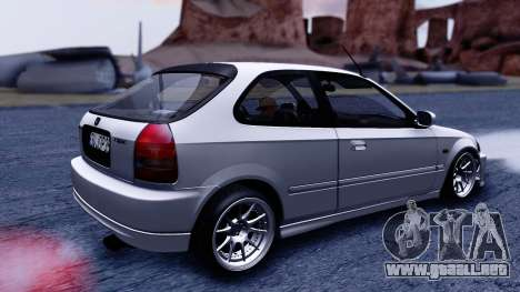 Honda Civic 1.6 Hatchback para GTA San Andreas vista posterior izquierda