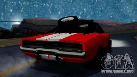 Dodge Charger 1969 Rusty Rebel para GTA San Andreas left