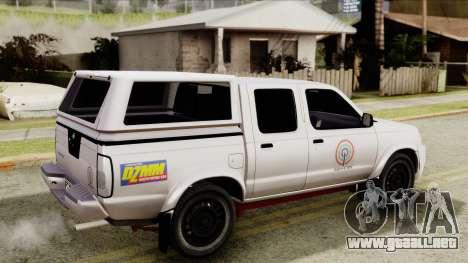 Nissan Frontier ABS CBN para GTA San Andreas vista posterior izquierda