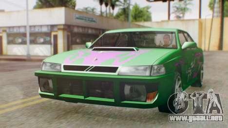 El sultán Винил из need For Speed Underground 2 para la visión correcta GTA San Andreas