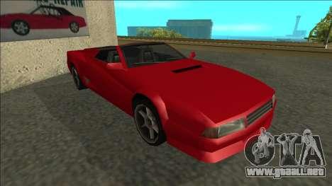Cheetah Cabrio para GTA San Andreas left
