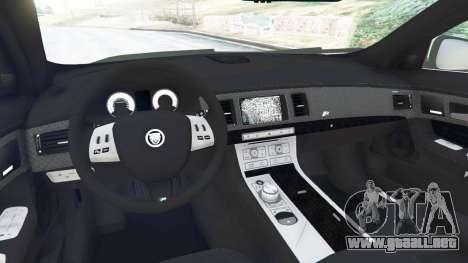 GTA 5 Jaguar XFR 2010 vista lateral trasera derecha