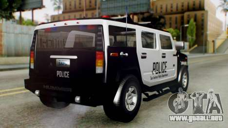New Police Ranger para GTA San Andreas left