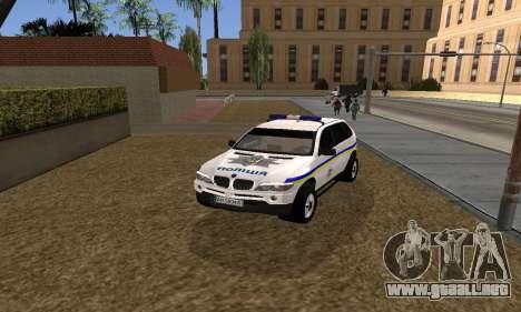 BMW X5 Ukranian Police para la visión correcta GTA San Andreas