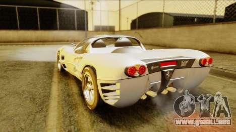 Ferrari P7 Spyder para GTA San Andreas left