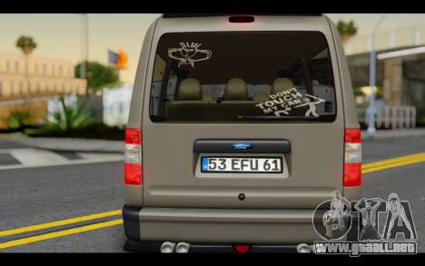 Ford Connect Rizeli para visión interna GTA San Andreas