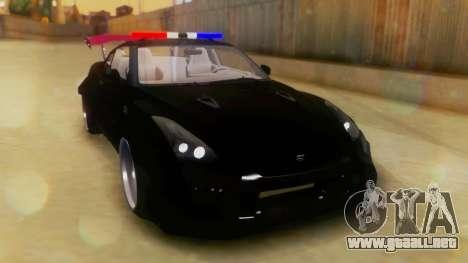 Nissan GT-R Police Rocket Bunny para la visión correcta GTA San Andreas
