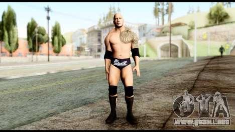 WWE The Rock para GTA San Andreas segunda pantalla