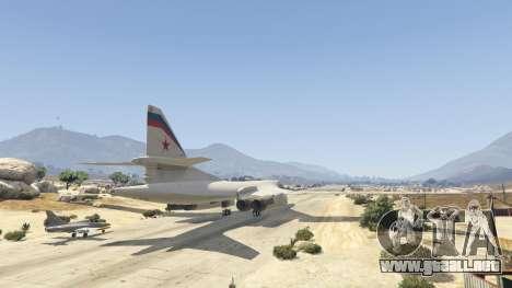 GTA 5 Tu-160 White Swan tercera captura de pantalla