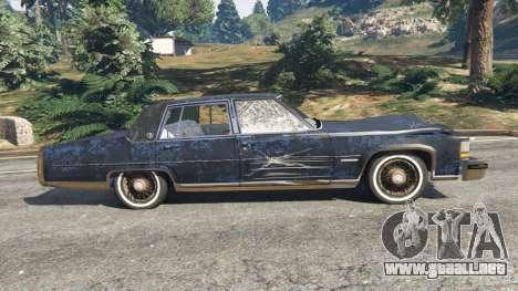 GTA 5 Cadillac Fleetwood Brougham 1985 [rusty] vista lateral izquierda