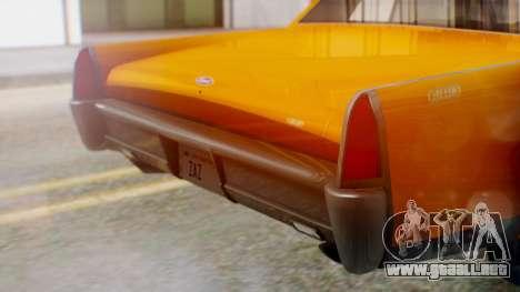 GTA 5 Vapid Chino Tunable para visión interna GTA San Andreas
