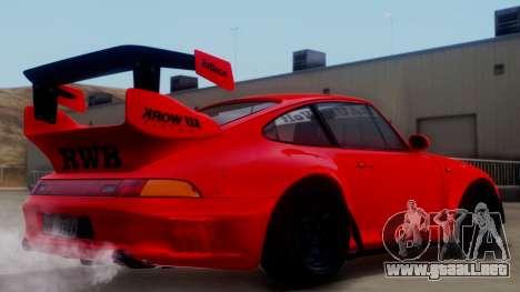 Porsche 993 GT2 RWB Rough Rhythm para GTA San Andreas left