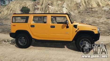 GTA 5 Hummer H2 2005 vista lateral izquierda