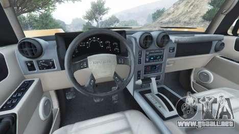 GTA 5 Hummer H2 2005 vista lateral trasera derecha