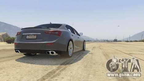 GTA 5 Maserati Ghibli S vista trasera