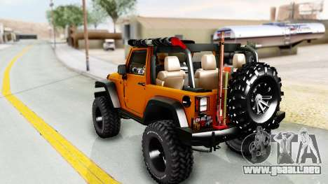 Jeep Wrangler Off Road para GTA San Andreas left