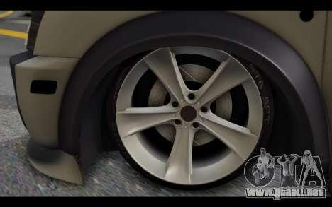 Ford Connect Rizeli para GTA San Andreas vista posterior izquierda