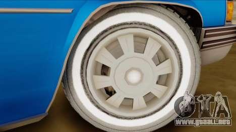 GTA 4 Albany Emperor para GTA San Andreas vista posterior izquierda