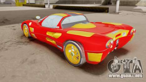Ferrari P7-2 Iron Man para GTA San Andreas vista posterior izquierda