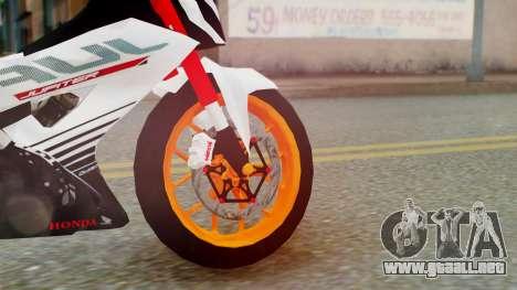 Honda Sonic 150R KingLivery para GTA San Andreas vista posterior izquierda