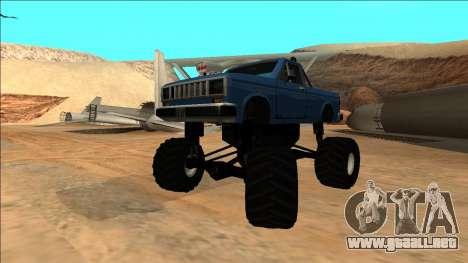 Bobcat Monster Truck para visión interna GTA San Andreas