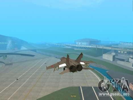 El MiG 25 para vista lateral GTA San Andreas