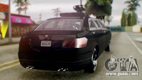 GTA 5 Benefactor Stretch E Turreted para GTA San Andreas left