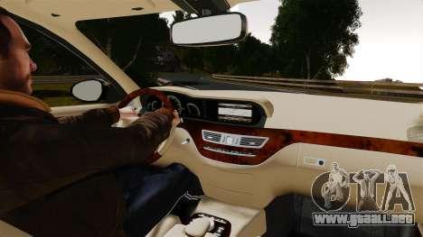 Mercedes-Benz S600L 2008 para GTA 4 vista hacia atrás