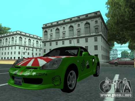 Toyota MR-S Tunable para GTA San Andreas vista posterior izquierda