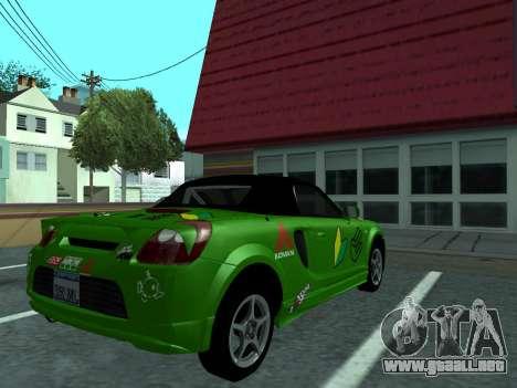 Toyota MR-S Tunable para la visión correcta GTA San Andreas