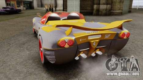 Ferrari P7 Carbon para GTA San Andreas vista posterior izquierda