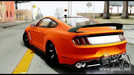 Ford Mustang Shelby GT350R 2016 para GTA San Andreas left