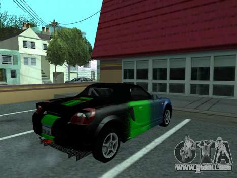 Toyota MR-S Tunable para la vista superior GTA San Andreas