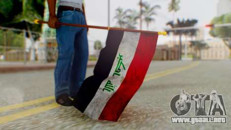 Iraq Flag HD para GTA San Andreas tercera pantalla