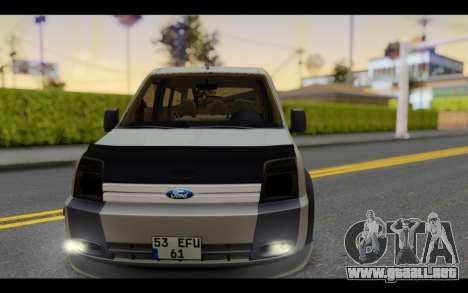 Ford Connect Rizeli para GTA San Andreas vista hacia atrás