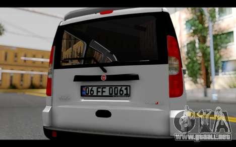 Fiat Doblo para visión interna GTA San Andreas