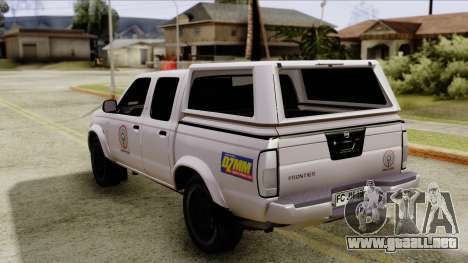 Nissan Frontier ABS CBN para GTA San Andreas left