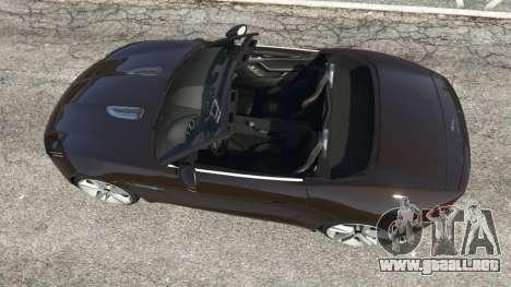 GTA 5 Jaguar F-Type 2014 vista trasera