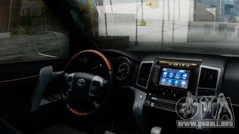 Toyota Land Cruiser 200 2016 Bulkin Edition para la visión correcta GTA San Andreas